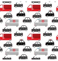 City car seamless pattern vector