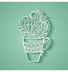 Decorative Cup of Tea vector image