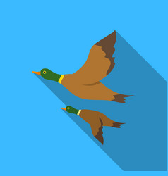 ducks icon in flat style isolated on white vector image vector image