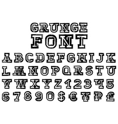 grungeFont vector image vector image