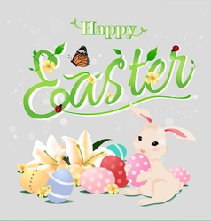 Happy easter typographical backgroundisolated vector