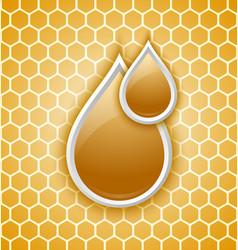 Honey drops icon vector image vector image