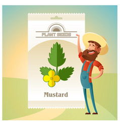 pack of mustard seeds icon vector image vector image