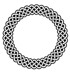 Celtic round frame border pattern - vector