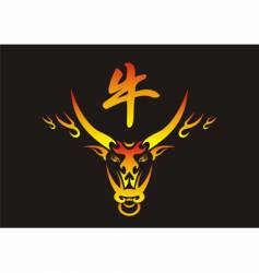Chinese ox vector image vector image