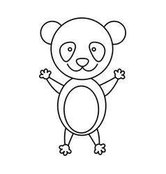 figure teddy bear icon vector image