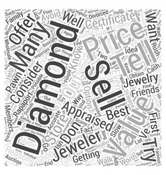 how to sell a diamond Word Cloud Concept vector image