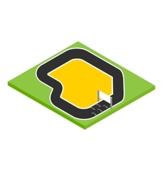 Speedway isometric 3d icon vector image vector image