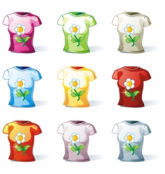 woman's t-shirt set vector image vector image