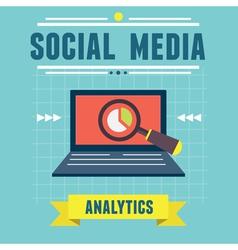 Analytics social media information vector image vector image