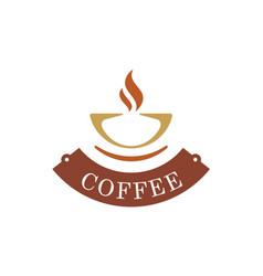 coffee cup abstract logo vector image