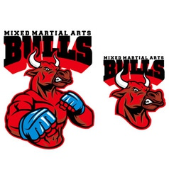 MMA fighter bull vector image vector image