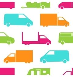 Retro truck seamless pattern vector image vector image