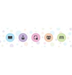 5 study icons vector