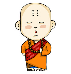 A buddhist monk or color vector