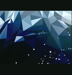 abstract dark blue polygonal background vector image