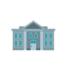 administrative courthouse icon flat style vector image