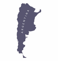 argentina silhouette map vector image