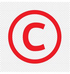 basic font for letter c icon design vector image