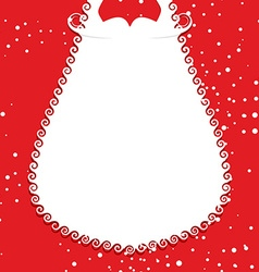 Big white beard Santa Claus on red background vector