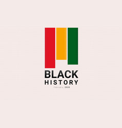 black history month red yellow and green stripes vector image