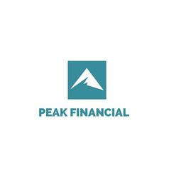 blue simple abstract peak logo design logo vector image