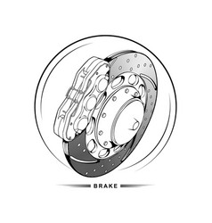 brake on a white background vector image