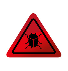 bug virus alert icon vector image