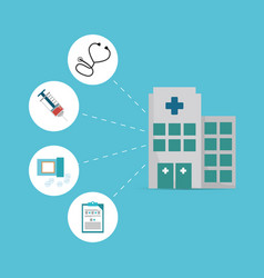 building hospital differents service vector image