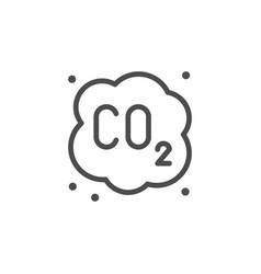 carbon dioxide cloud line icon vector image