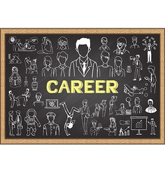 Career on chalkboard vector image
