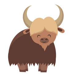 cartoon yak yak drawing vector image