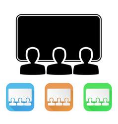 cinema hall colored icons vector image