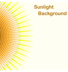 Colorful sunlight background vector image
