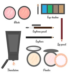 Cosmetics set for a make-up 2 vector