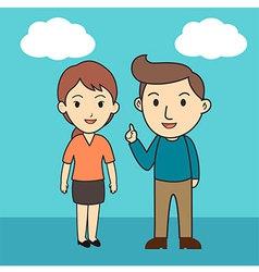 Couple Cartoon Character vector image