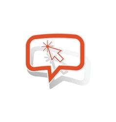 Cursor message sticker orange vector image