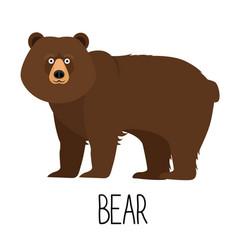 Cute cartoon bear isolated vector