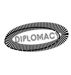 Diplomacy stamp on white vector