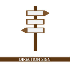 direction sign icon vector image