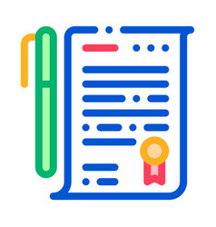document icon outline vector image