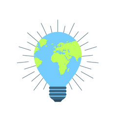 Earth day 22 april clean energy light bulb vector