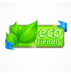 Eco friendly label vector