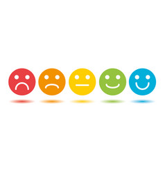 emoji colored scale flat icons set vector image