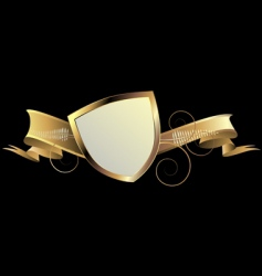 gold shield vector image