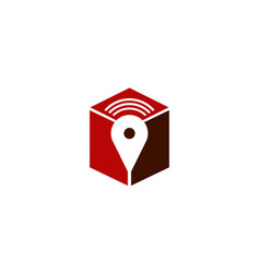 gps signal pin box vector image