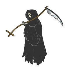 grim reaper engraving vector image