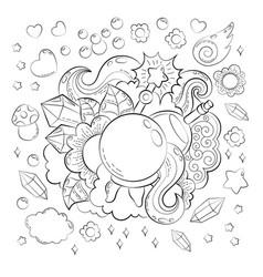 halloween concept hand drawn cartoon doodle vector image