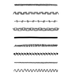 hand drawn dividers vector image