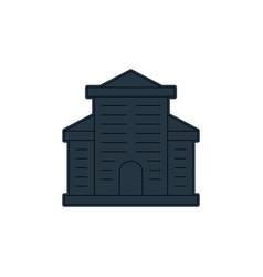 Hotel icon editable stroke linear vector